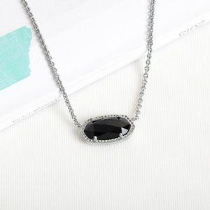 Kendra Scott Jewelry - Kendra Scott Elisa Black Glass Silver Necklace